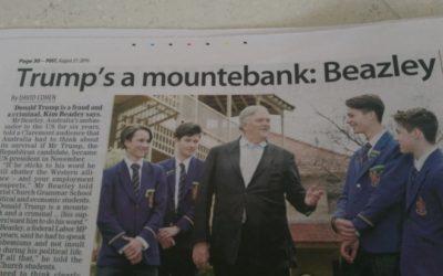 """L'Ambasciatore Australiano in U.S.A.: Il Presidente è un """"mountebank""""!"""